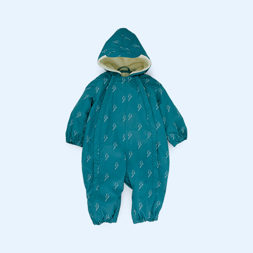 Teal Muddy Puddles 3 in 1 Scampsuit
