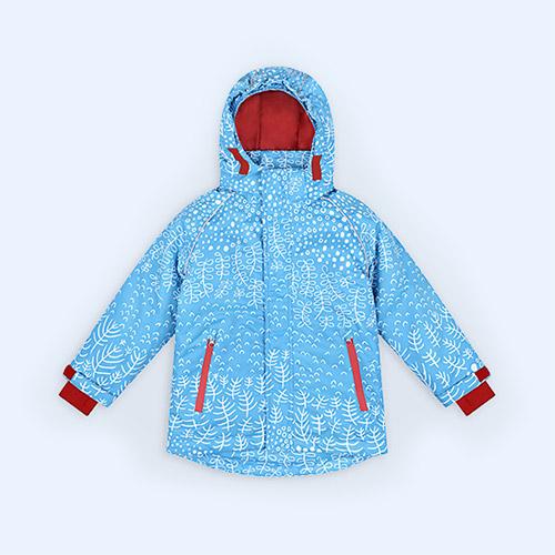 Blue Botanical Muddy Puddles Blizzard Ski Jacket