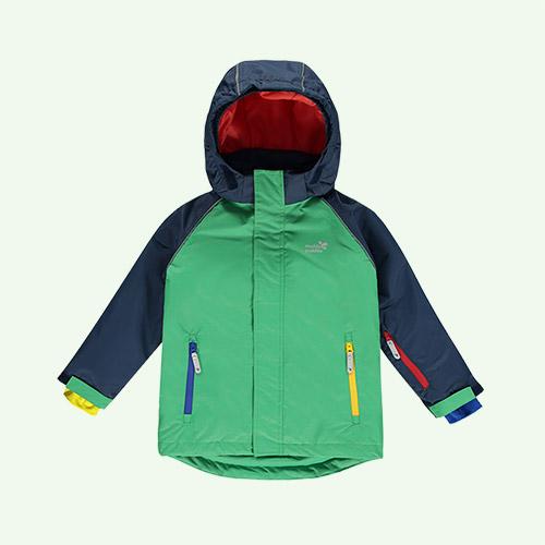 Green Colourblock Muddy Puddles Blizzard Ski Jacket