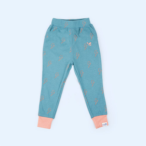 Blue/Pink Lightening Muddy Puddles Drift Base Layer Bottoms