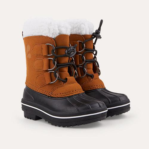 Tan Muddy Puddles Snowdrift Snowboots