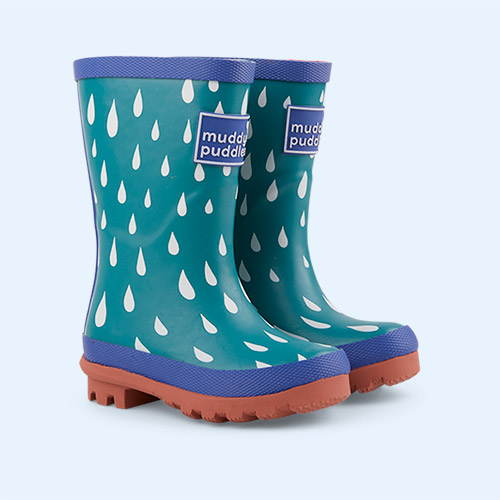 Quetzel  Raindrop Muddy Puddles Puddle Stomper Wellies