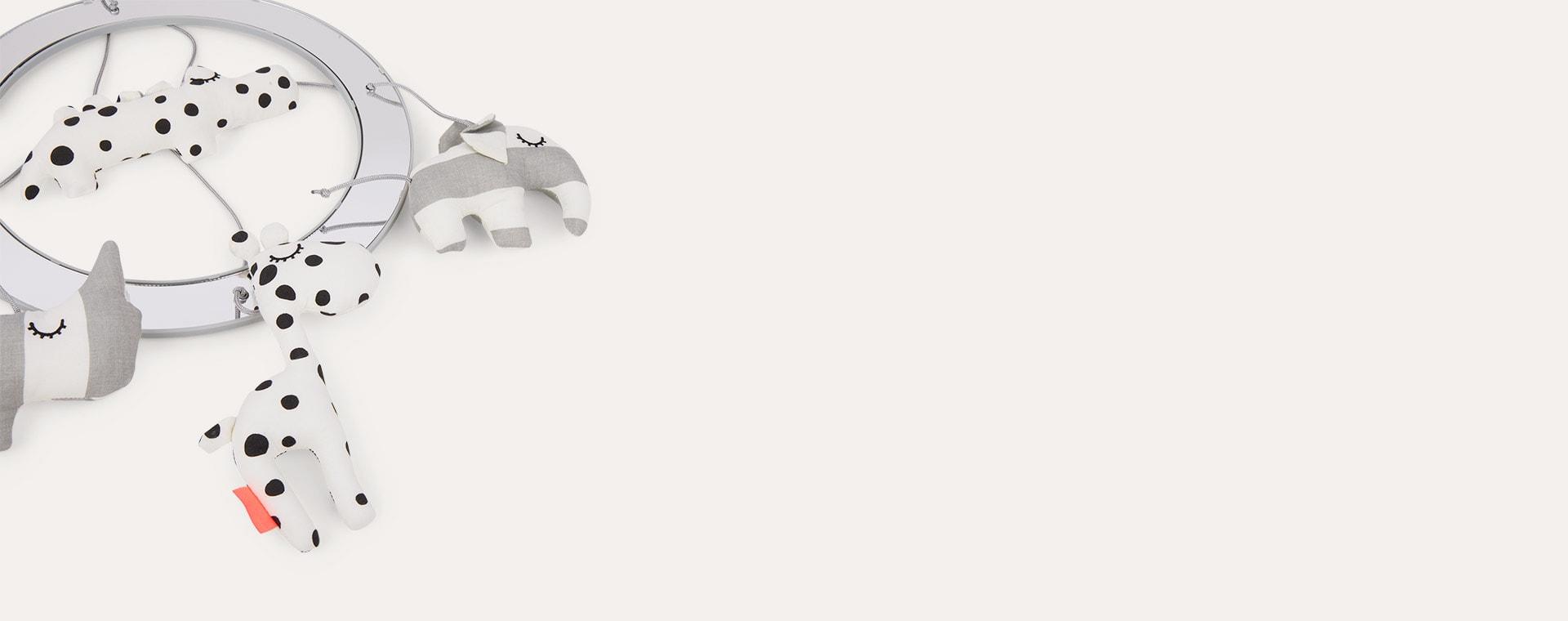Grey Done By Deer Musical Mirror Mobile Sleepy