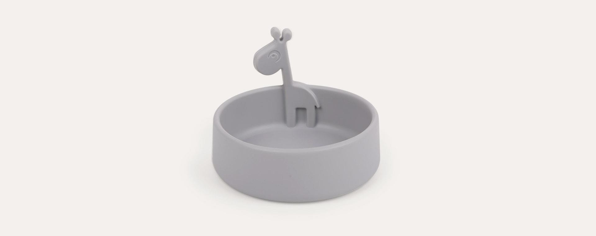 Grey Done By Deer Peekaboo Bowl Raffi