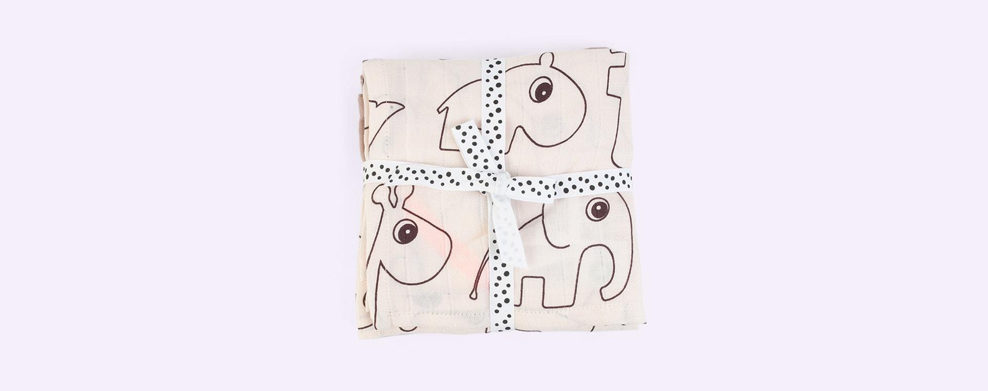 Deer Friends Powder Done By Deer 3-Pack Organic Burp Cloth Deer Friends