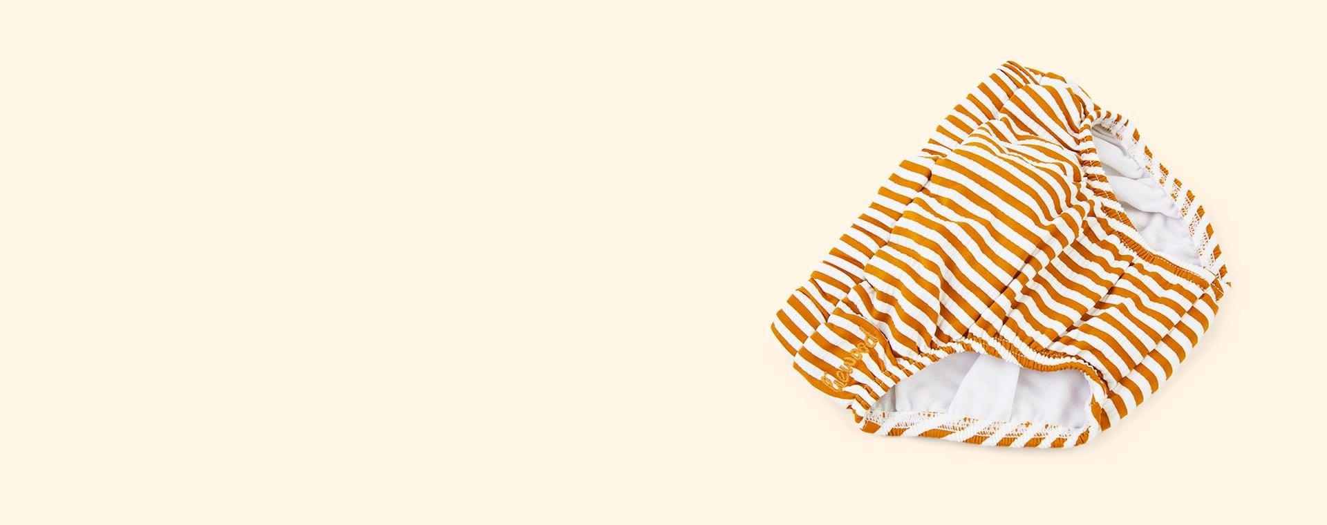 Mustard Stripe Liewood Frej Baby Swim Pants Seersucker