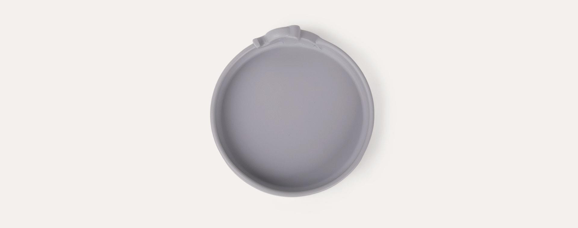 Grey Done By Deer Peekaboo Plate Elphee