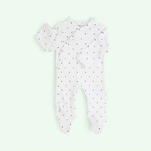 White Noppies Riche Sleepsuit