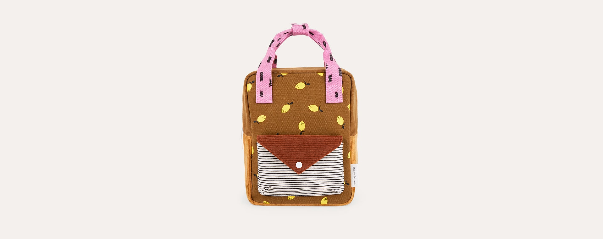 Dijon and Gingerbread Sticky Lemon Small Corduroy Backpack