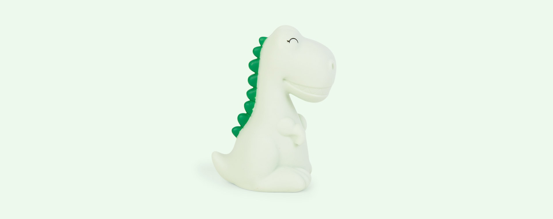 Green Dino With Dark Green Mane Dhink Mini LED Night Light