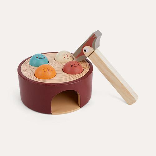 Brown Tender Leaf Toys Woodpecker Game