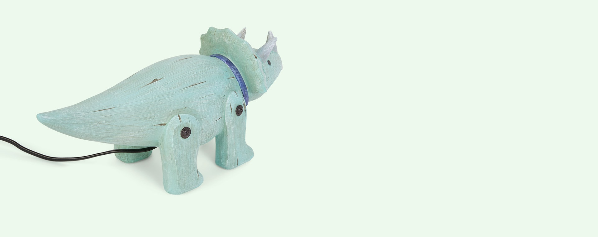 Triceratops House of Disaster Wood Effect Dino Light