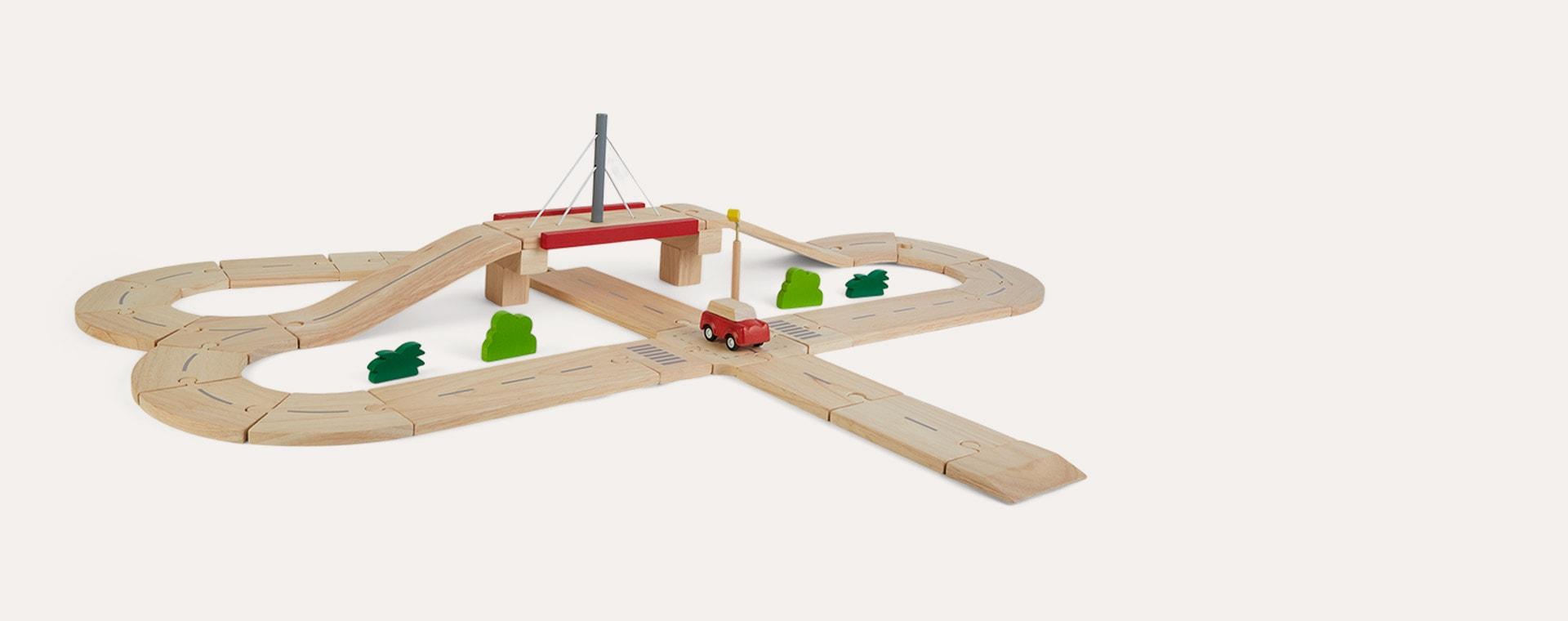 Brown Plan Toys Road System