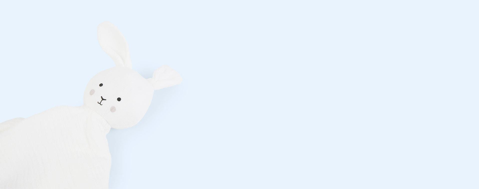 White Jabadabado Bunny Comforter