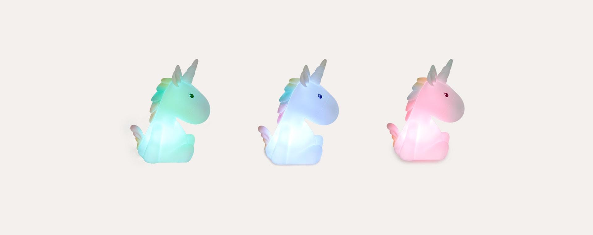 White Unicorn With Pastel Multicoloured Mane Dhink Unicorn Rechargeable LED Night Light
