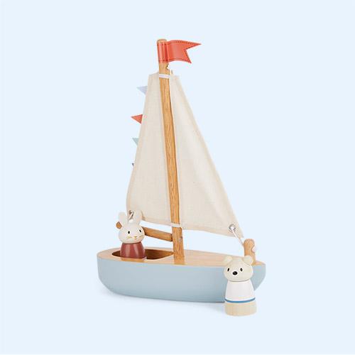 Blue Tender Leaf Toys Sailaway Boat