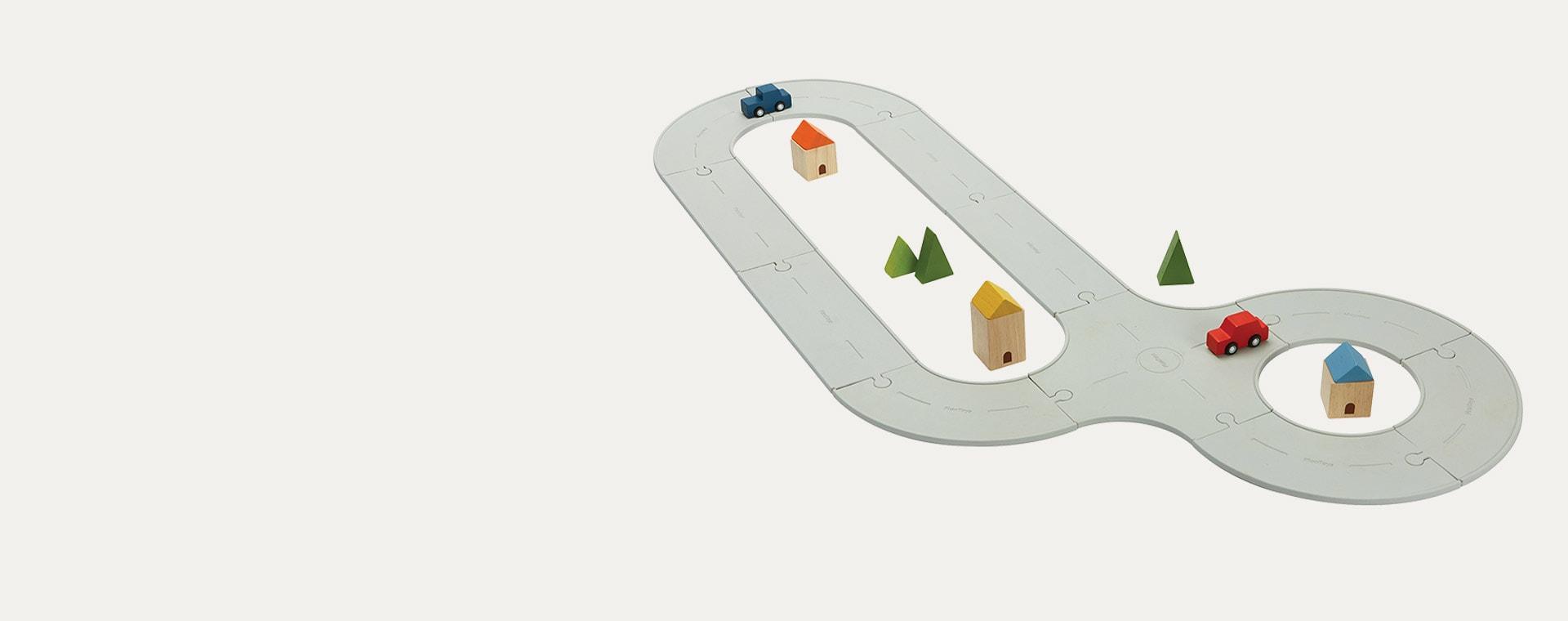 Grey Plan Toys Road & Rail Rubber