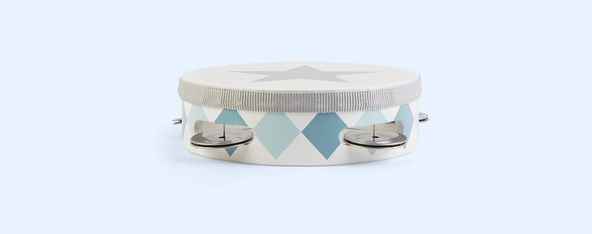 Blue Jabadabado Tambourine Drum