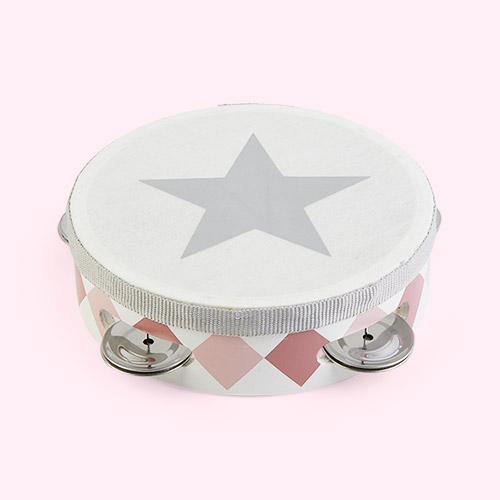 Pink Jabadabado Tambourine Drum