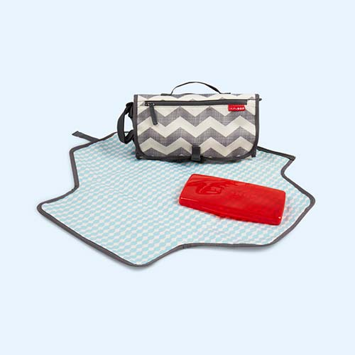 Chevron Skip Hop Pronto Travel Changing Kit