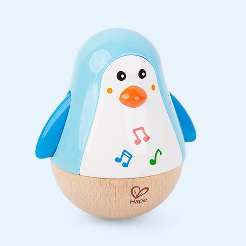 Blue Hape Penguin Musical Wobbler