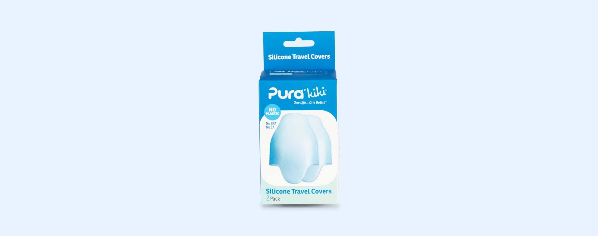 Blue Pura Silicone Travel Bottle Cover - 2 Pack