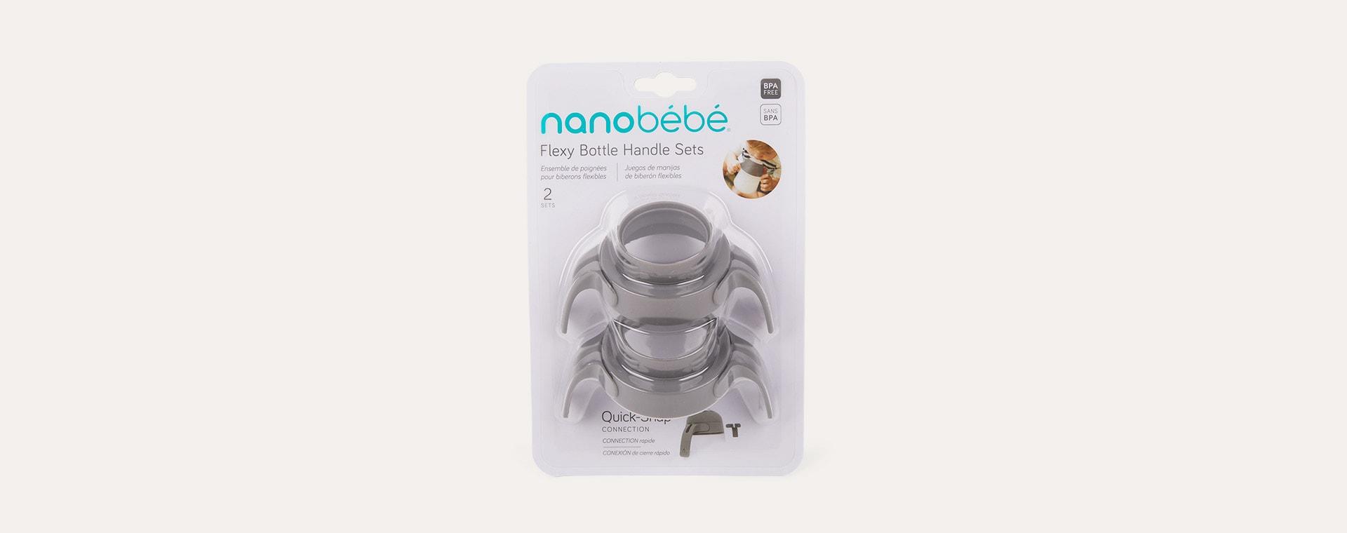 Grey nanobébé Silicone Bottle Handles