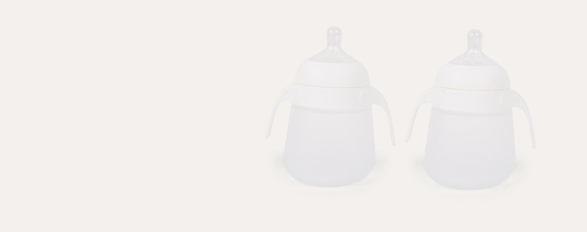White nanobébé Silicone Bottle Handles