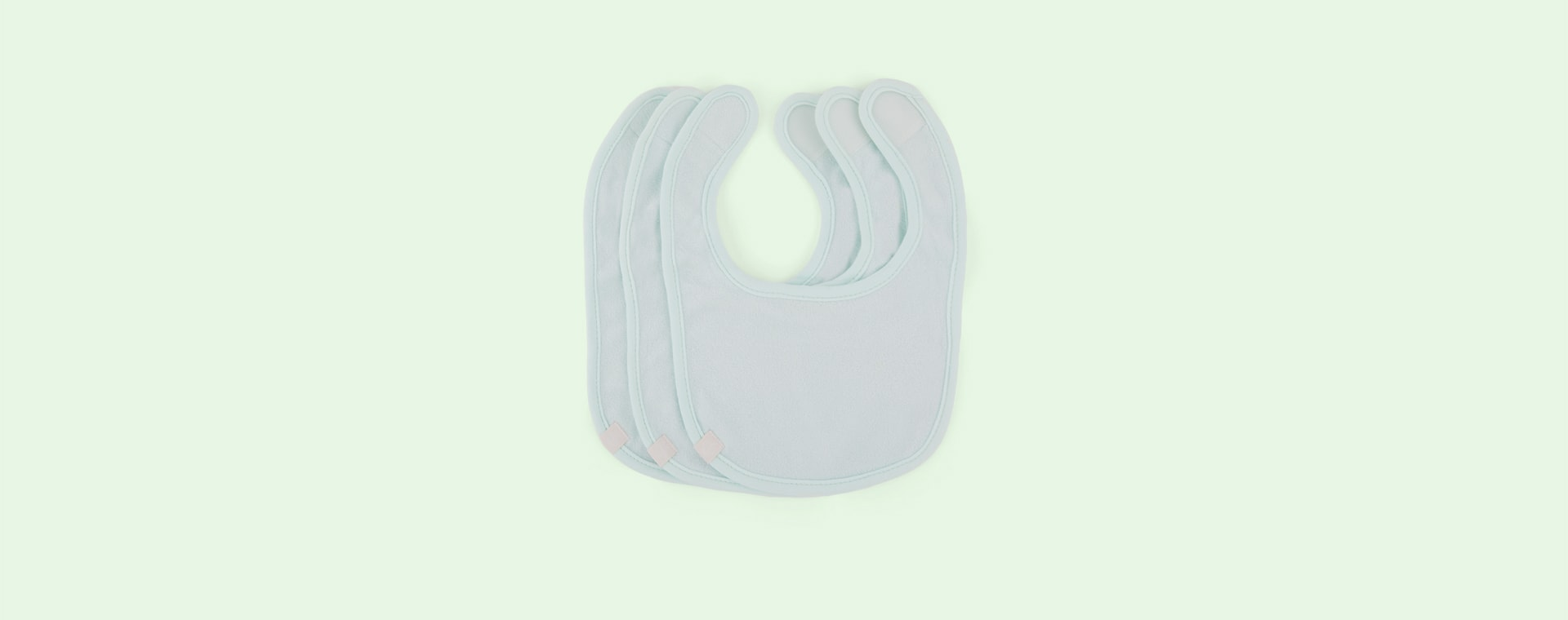 Mint Lassig Newborn Bib 3-pack
