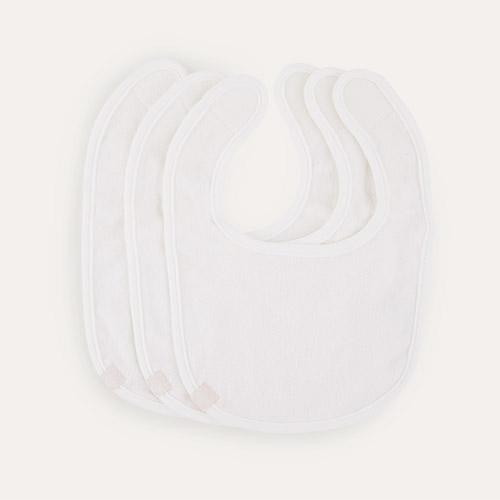 White Lassig Newborn Bib 3-pack