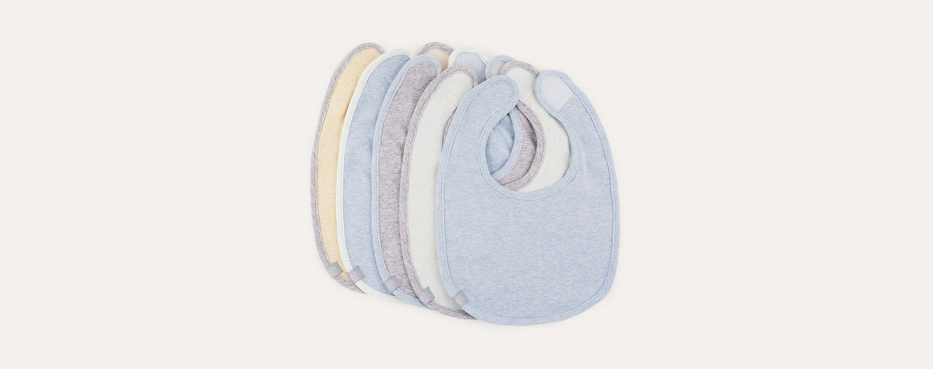Melange Blue Trim Lassig Value Pack Bib