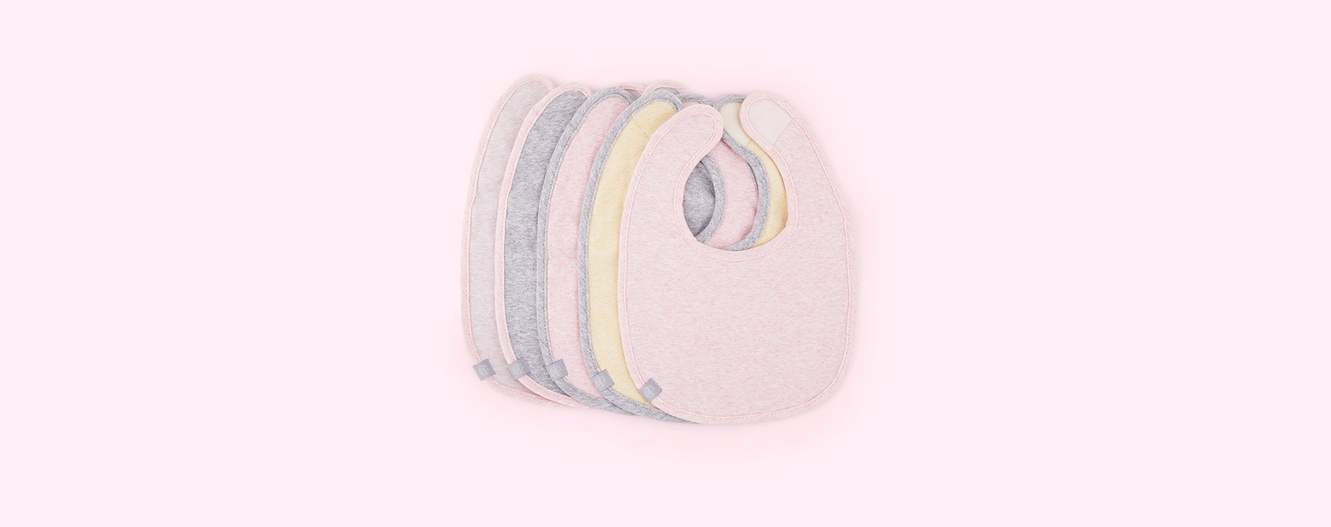 Melange Pink Trim Lassig Value Pack Bib