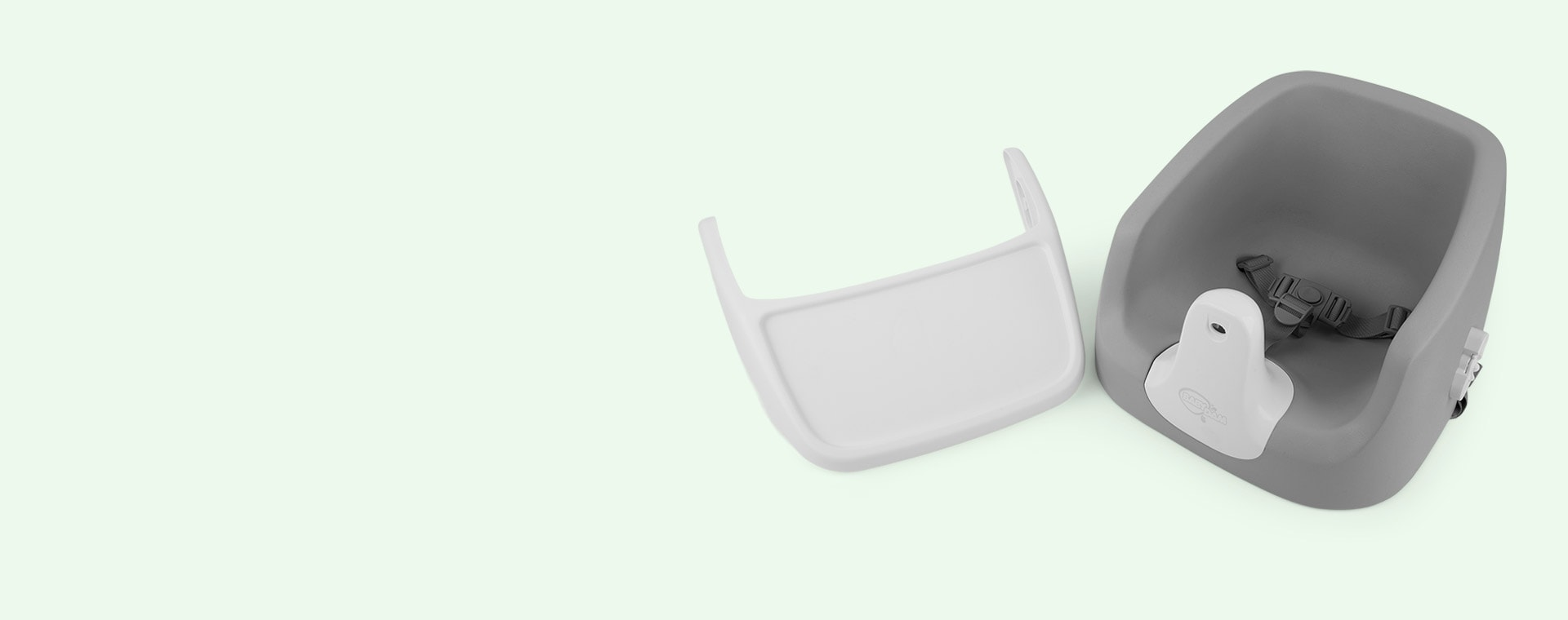 Grey/White BabyDam SpongePod Booster Seat