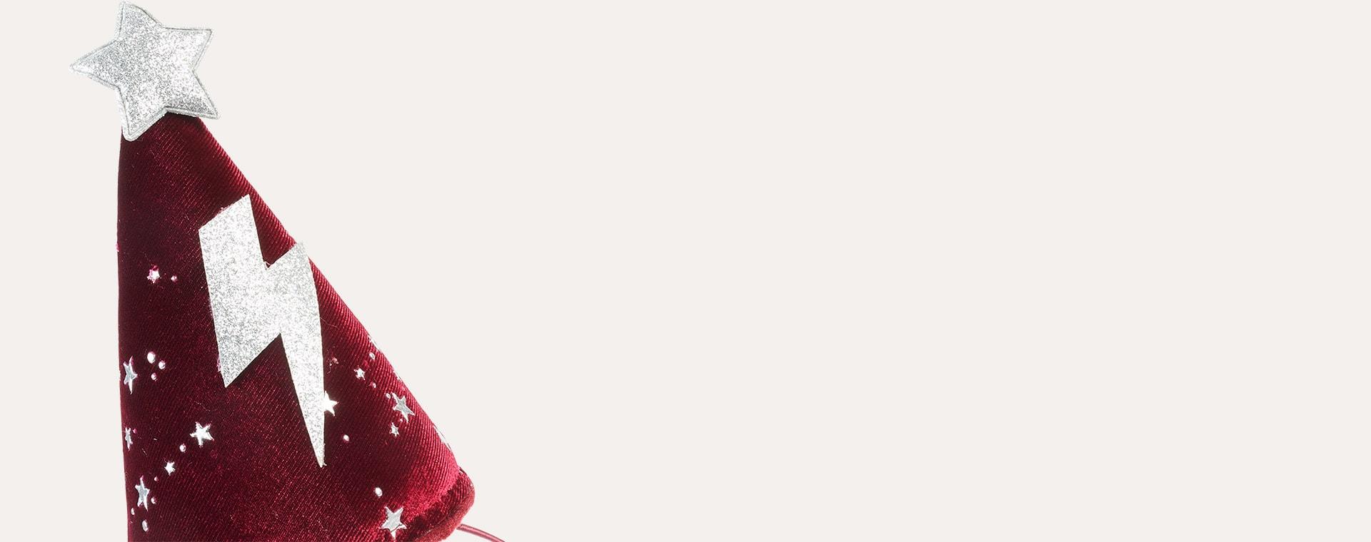 Red Mimi & Lula Enchanted Velvet Wizard Hat