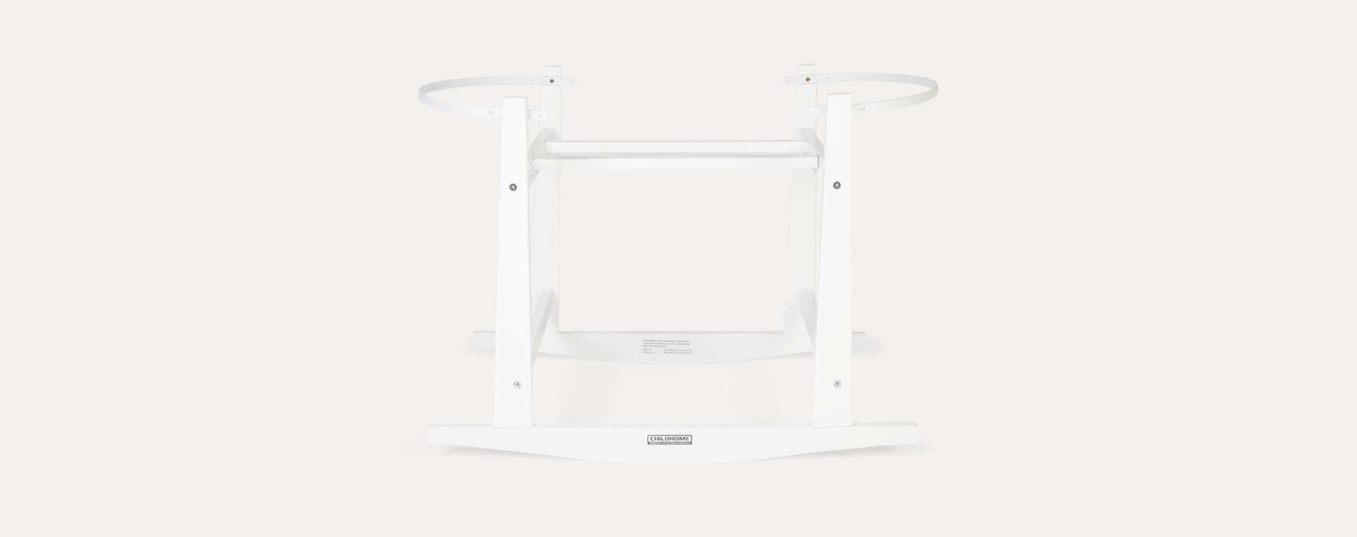 White Childhome Moses Basket Stand
