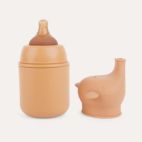 Brown One Green Bottle Stainless Steel Baby Bottle 150ml
