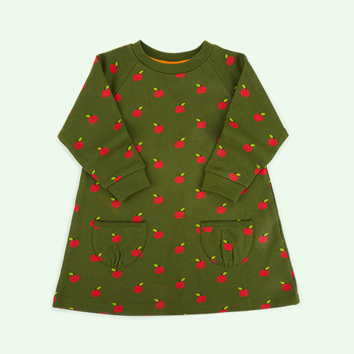 Red Apples Little Green Radicals Snuggle Dress