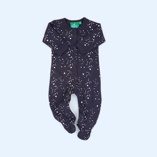 soft navy/Starry Night Little Green Radicals Babygrow