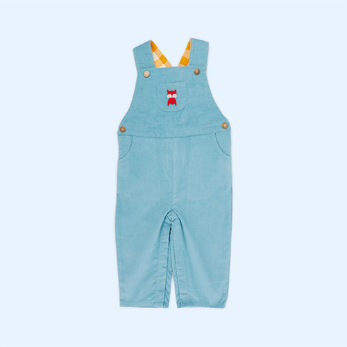Embroidered Fox Little Green Radicals Classic Dungarees
