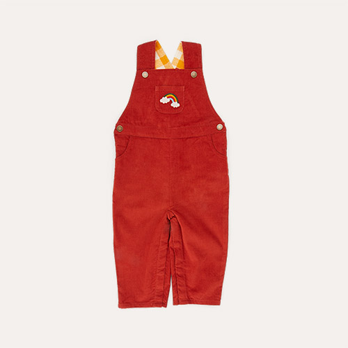 Embroidered Rainbow Little Green Radicals Classic Dungarees