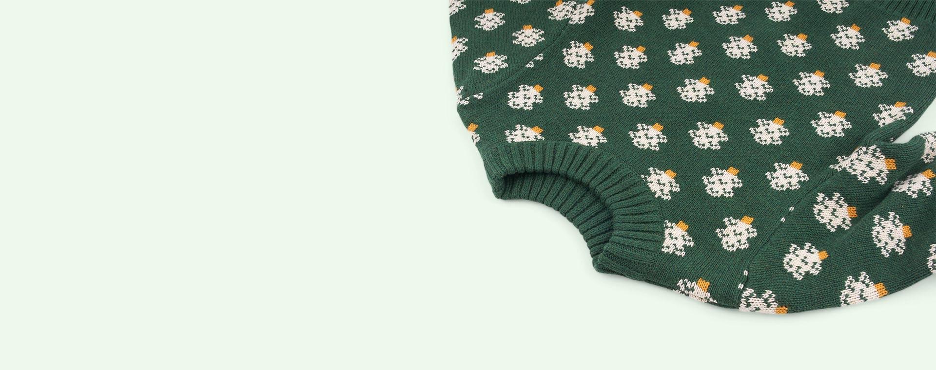 Olive Marl/ Winter Forest Little Green Radicals Snuggly Jumper