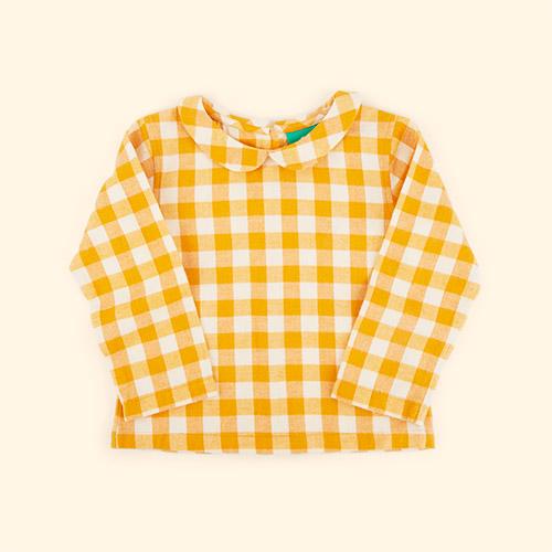 Golden Check Little Green Radicals Classic Blouse