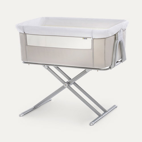 beige hauck Face to Me Bedside Crib