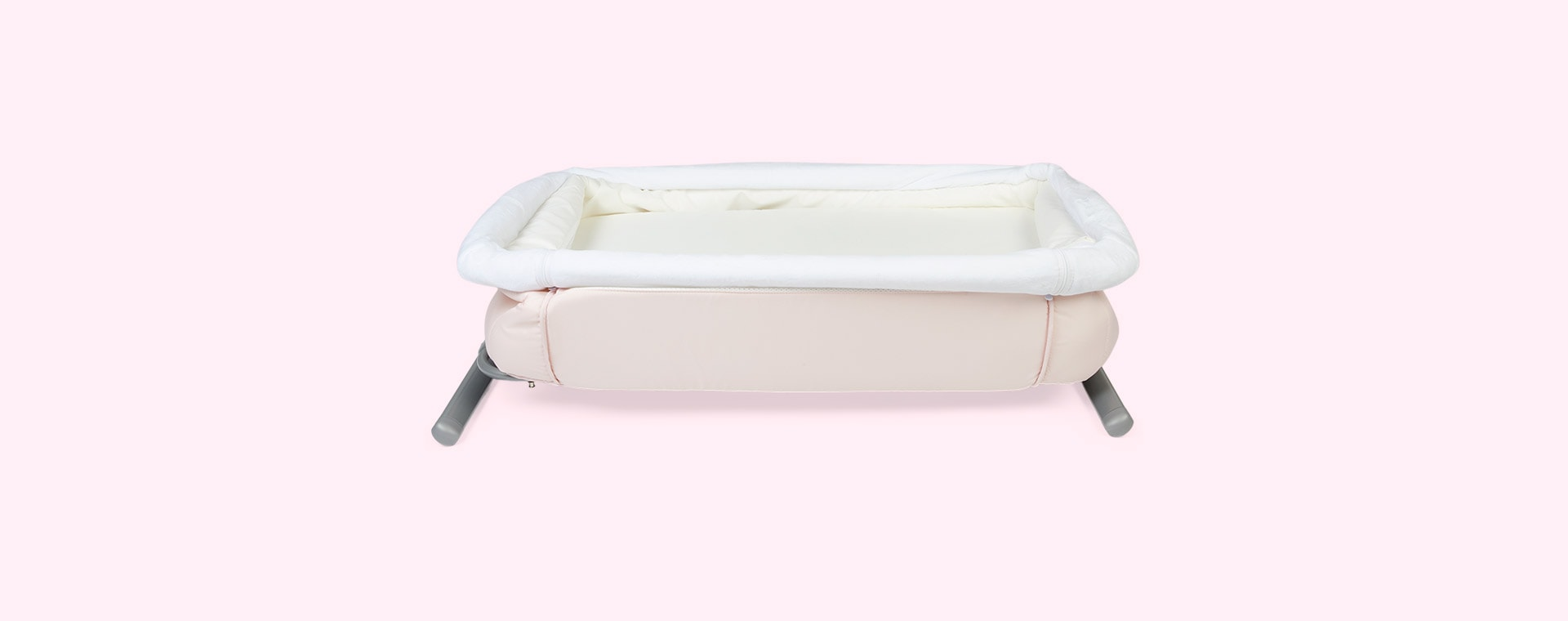 Pink hauck Face to Me Bedside Crib