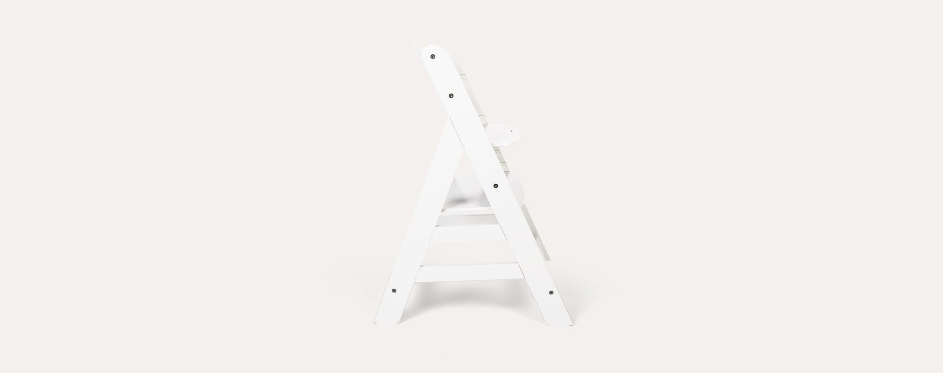 White hauck Alpha+ Wooden Highchair