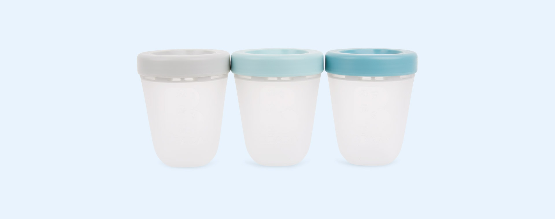 Jungle Beaba 3-Pack Silicone Storage Container Pots