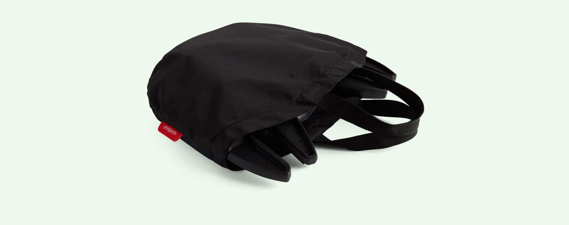 Black phil&teds Lobster Portable Highchair