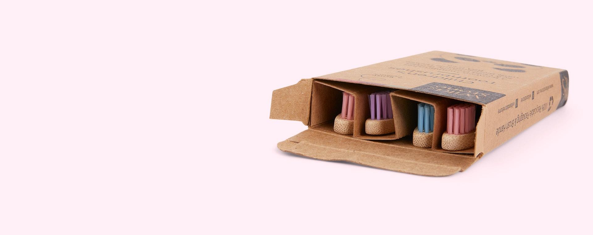 Candy Wild & Stone 4-Pack Organic Children's Bamboo Toothbrush