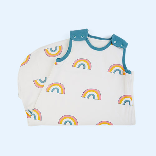 Rainbow Petrol Trim Mama Designs Babasac Multi Tog Sleeping Bag