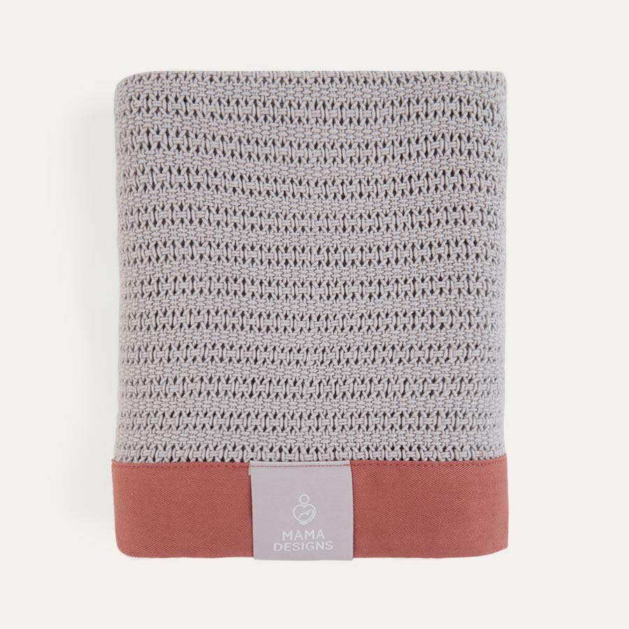 Grey and Russet Trim Mama Designs Cellular Blanket